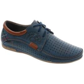Mario Pala Men's openwork shoes 563 navy blue brown