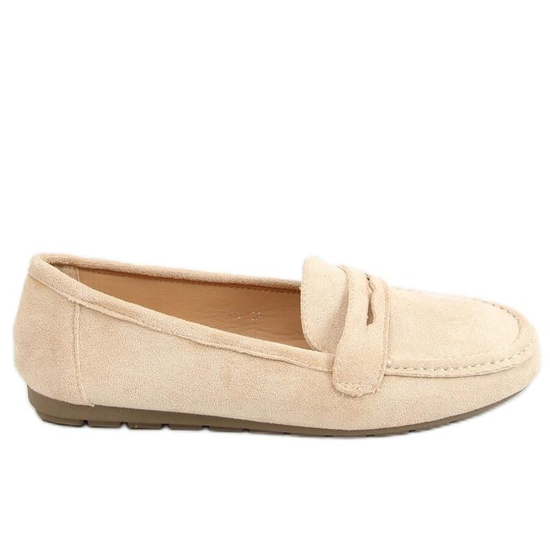 Women's beige loafers S-980 Beige