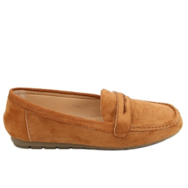 Women's loafers camel S-980 Camel brown