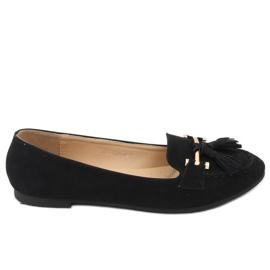Black women's loafers 99-08A Black