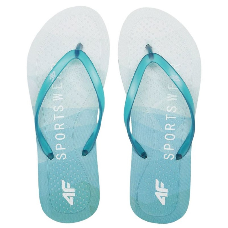 Flip-flops 4F W H4L21-KLD003 48S blue green