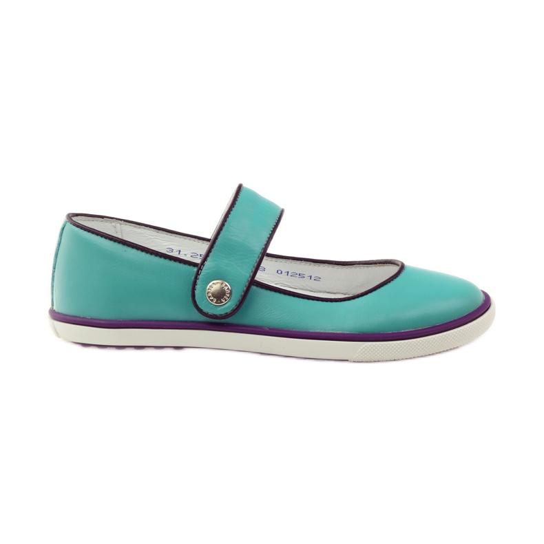 Ballerinas children's shoes Bartek 28368 turquoise green violet white