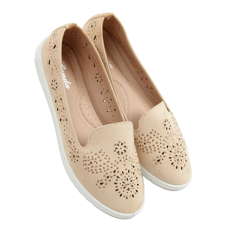 Beige openwork lords DY-09 Apricot