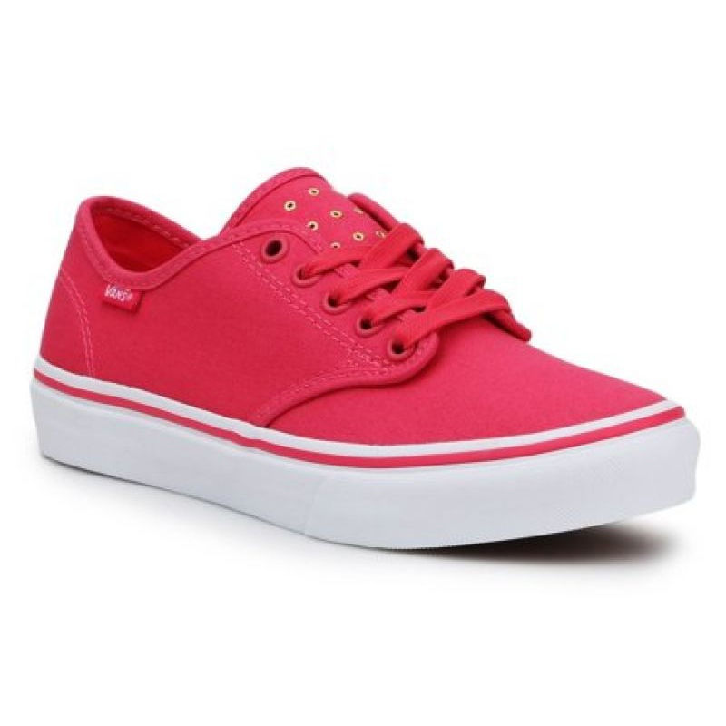 Vans Camden Stripe W VN000ZSOR6O1 Shoes red - ButyModne.pl