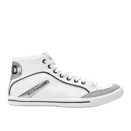 Men's white ankle-high sneakers from Hugo