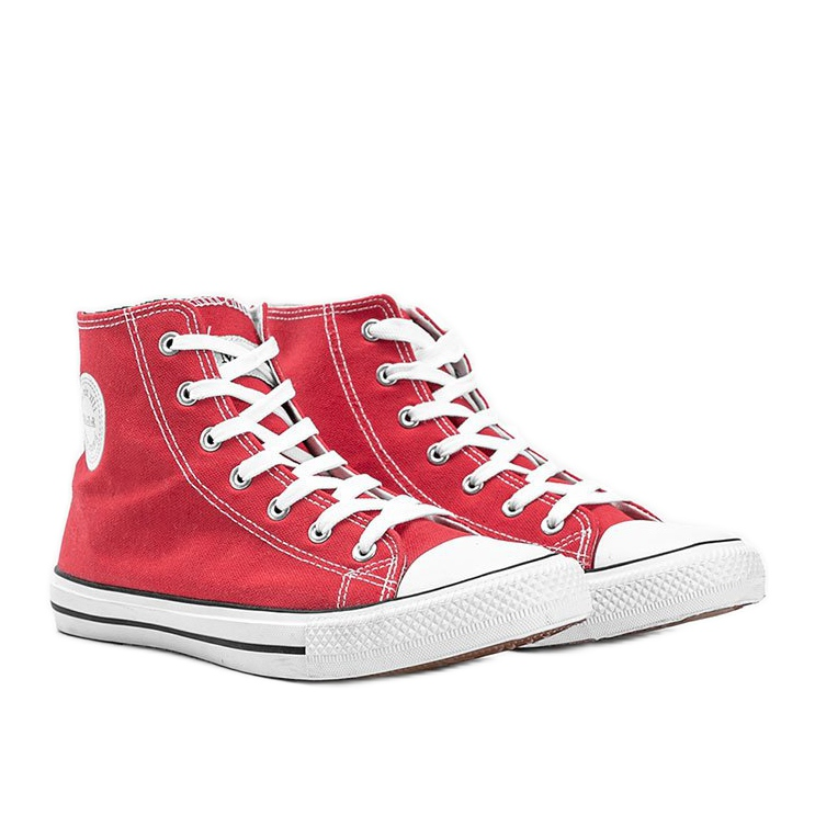 Perry men's red ankle sneakers