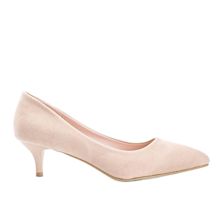 Beige pumps on the Like you low heel