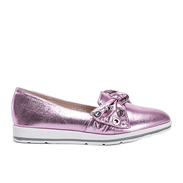 Metallic Pink Loafers With you