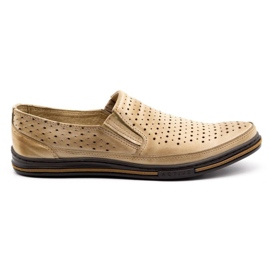 Polbut Men's openwork shoes 2107P beige