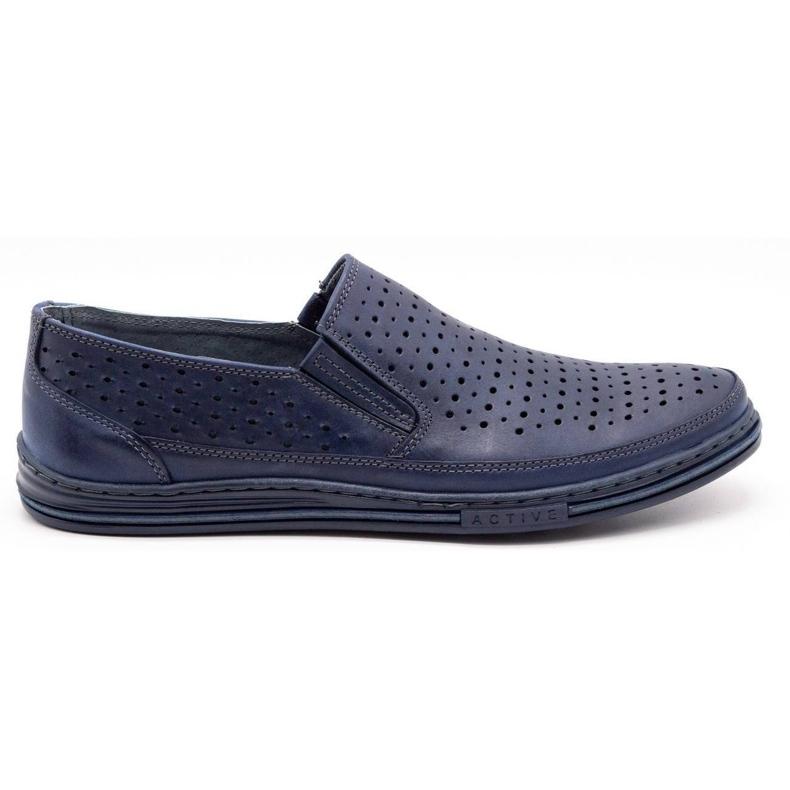 Polbut Men's openwork shoes 2107P navy blue