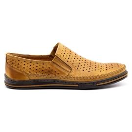 Polbut 2107P red openwork men's shoes orange