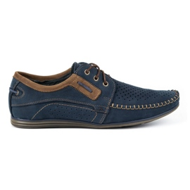Olivier Men's leather loafers 4228 navy blue