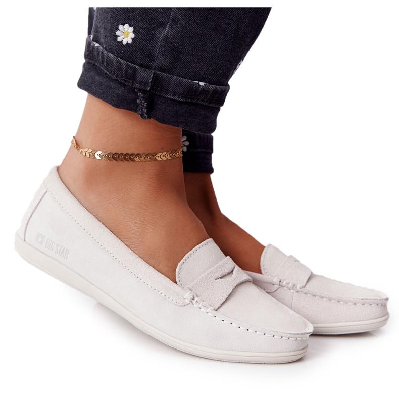 Women's Suede Loafers Big Star HH274665 Ecru