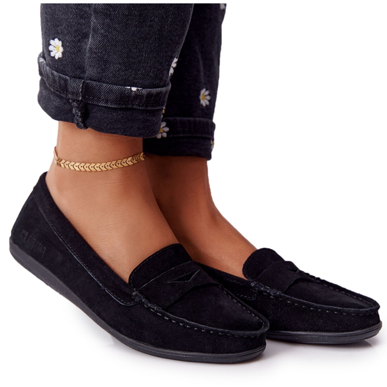 Women's Suede Loafers Big Star HH274662 Black