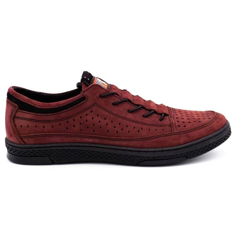 Polbut Men's leather shoes K22P claret red