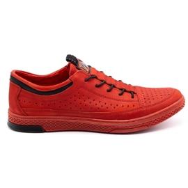 Polbut Men's leather shoes K22P red