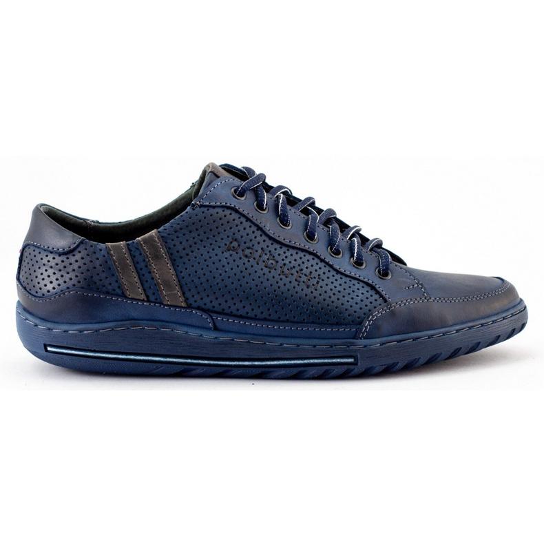 Polbut Men's casual shoes JOK31 navy blue