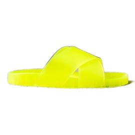 SHELOVET Fashionable Rubber Flip yellow