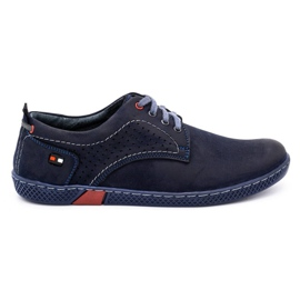 Olivier Men's casual shoes 302GT navy blue