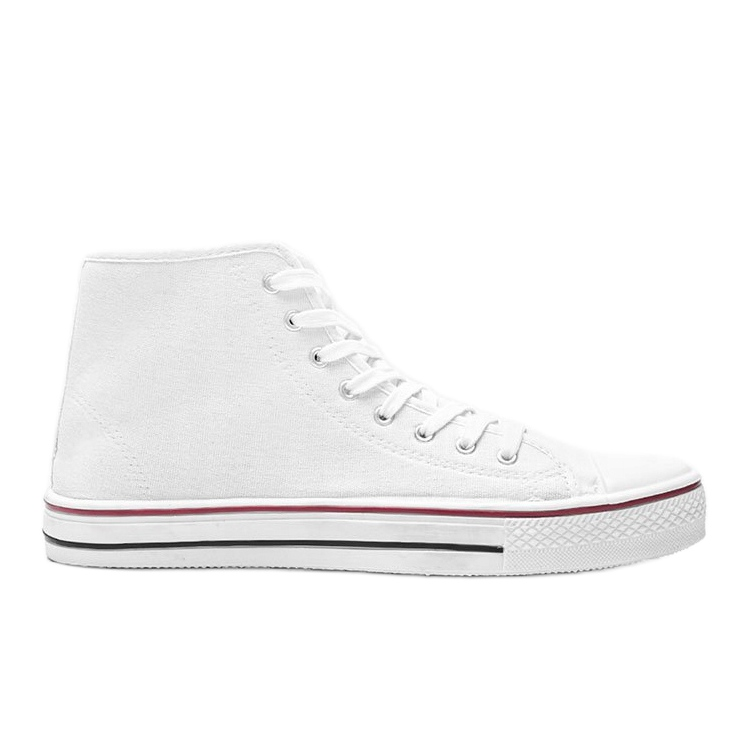 Men's white sneakers Gin ankle