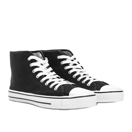 Men's black sneakers Gin ankle