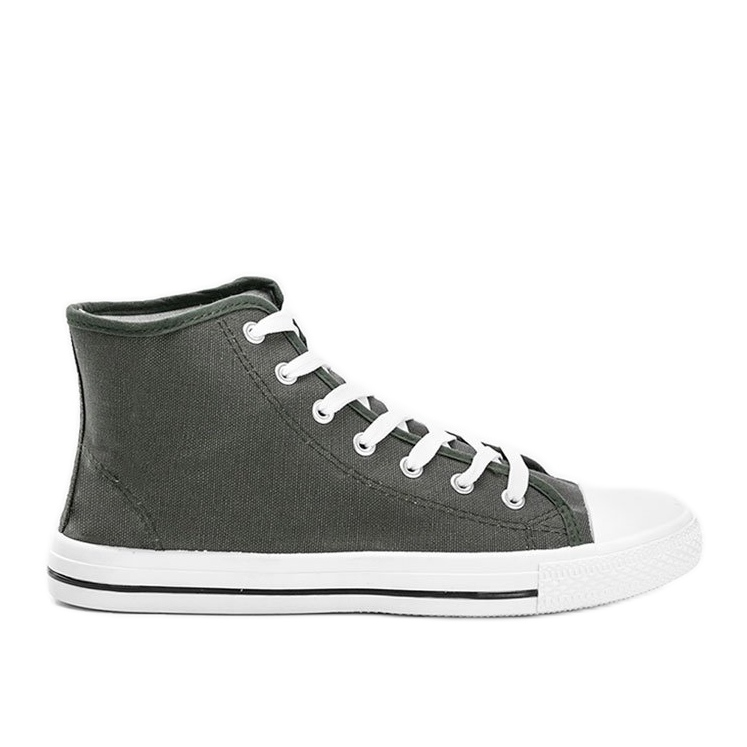 Men's green khaki sneakers with Gin ankle