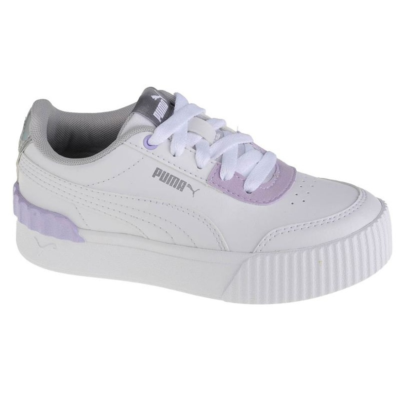 Puma Carina Lift Shine Ps Jr 380553 01 white pink