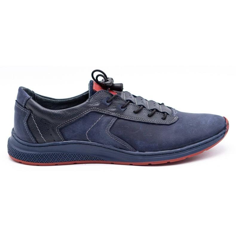 Olivier Men's sports shoes 7075 navy blue