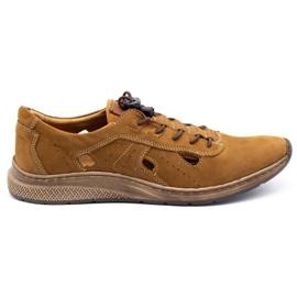 Olivier Men's sports shoes 7075L brown