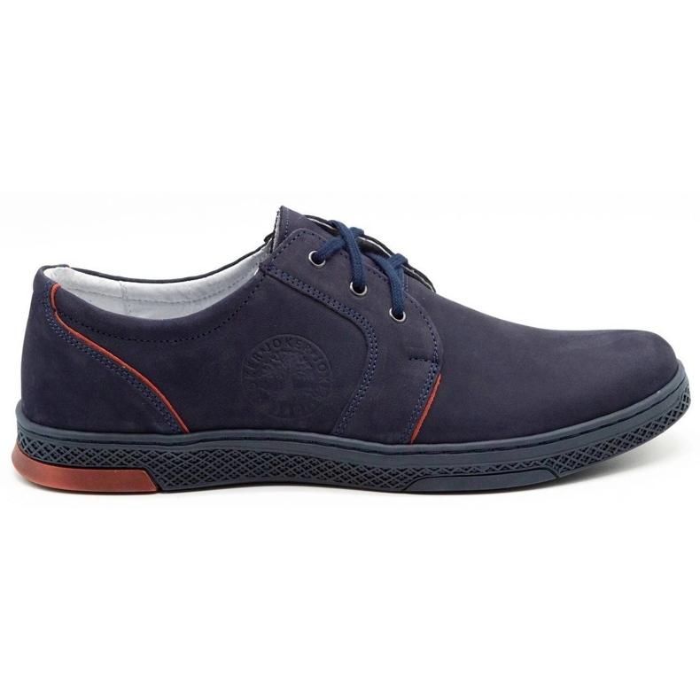 Joker Men's leather casual shoes 322/2 navy blue
