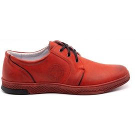 Joker Men's leather casual shoes 322/2 red