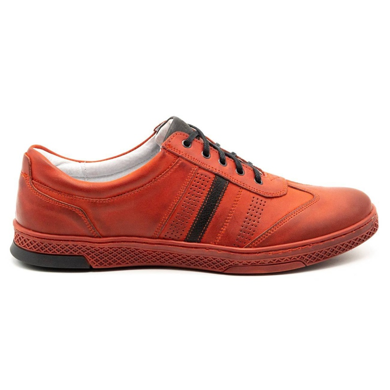 Joker Men's leather casual shoes S21 / 2 red
