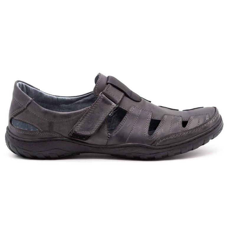 Polbut Men's openwork 260 gray summer shoes grey