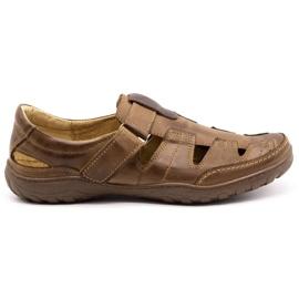Polbut Men's openwork 260 shoes for summer, brown