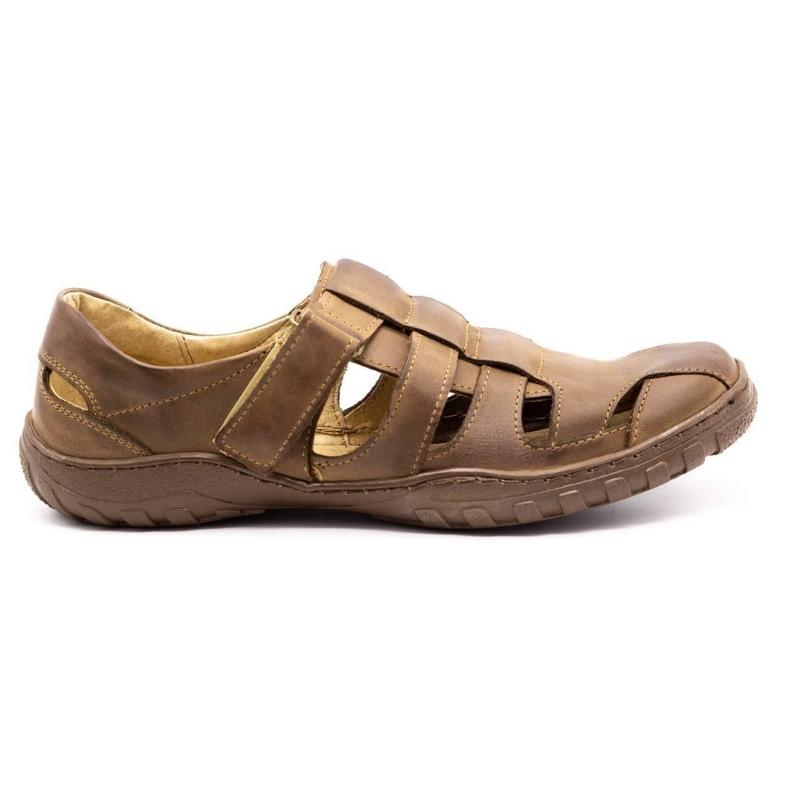 Polbut Men's openwork shoes 237 for summer brown