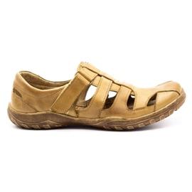 Polbut Men's openwork shoes 237 for summer beige