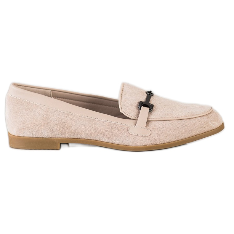 Coura Moccasins With Ornament beige