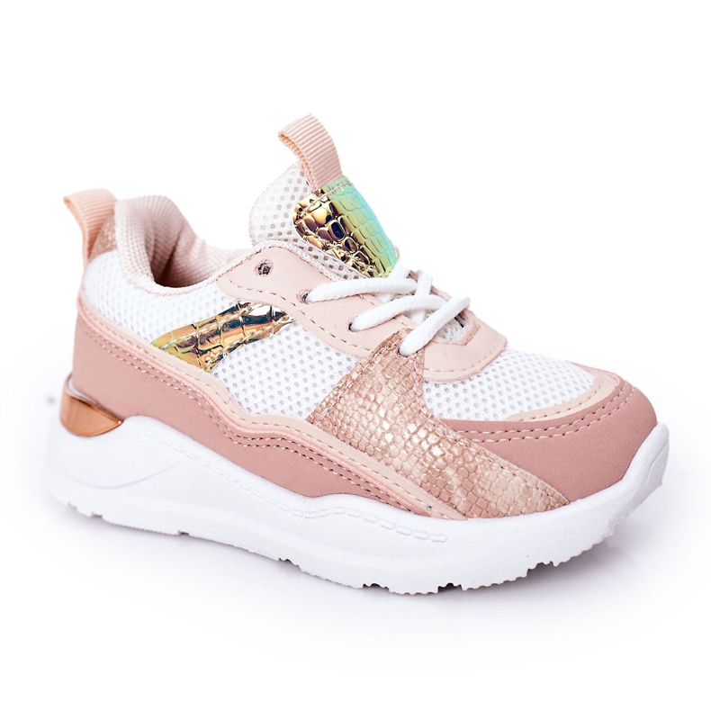 Children's Sport Shoes Sneakers Pink Game Time white