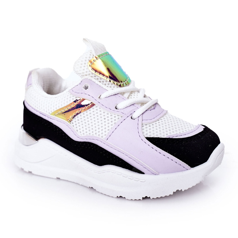 Children's Sport Shoes Sneakers Black-Violet Game Time white