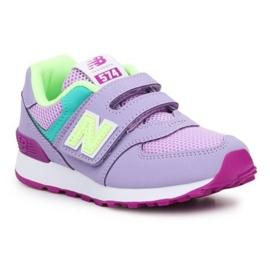 New Balance Jr PV574BVM shoes pink green