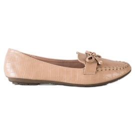 Kayla Casual Eco Leather Loafers brown