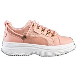 SHELOVET Pink Sneakers On The Platform