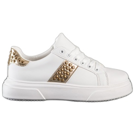 SHELOVET Sneakers With Ornaments white