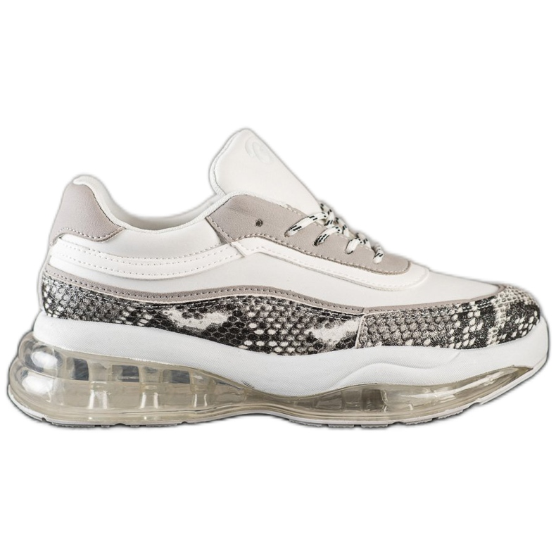 SHELOVET Sneakers On A Transparent Platform white multicolored