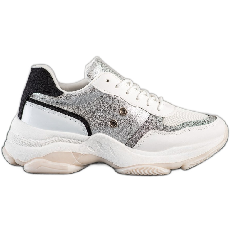 SHELOVET Comfortable fashionable sneakers white multicolored