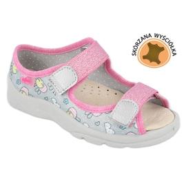 Befado sandal for girls 869x154 pink silver grey