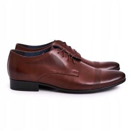 Bednarek Polish Shoes Men's Leather Slippers Bednarek 804 Dark Brown
