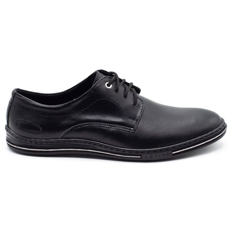 Lukas Leather men's shoes 295LU black with white
