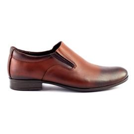 Olivier Men's formal, slip-on shoes 430 brown
