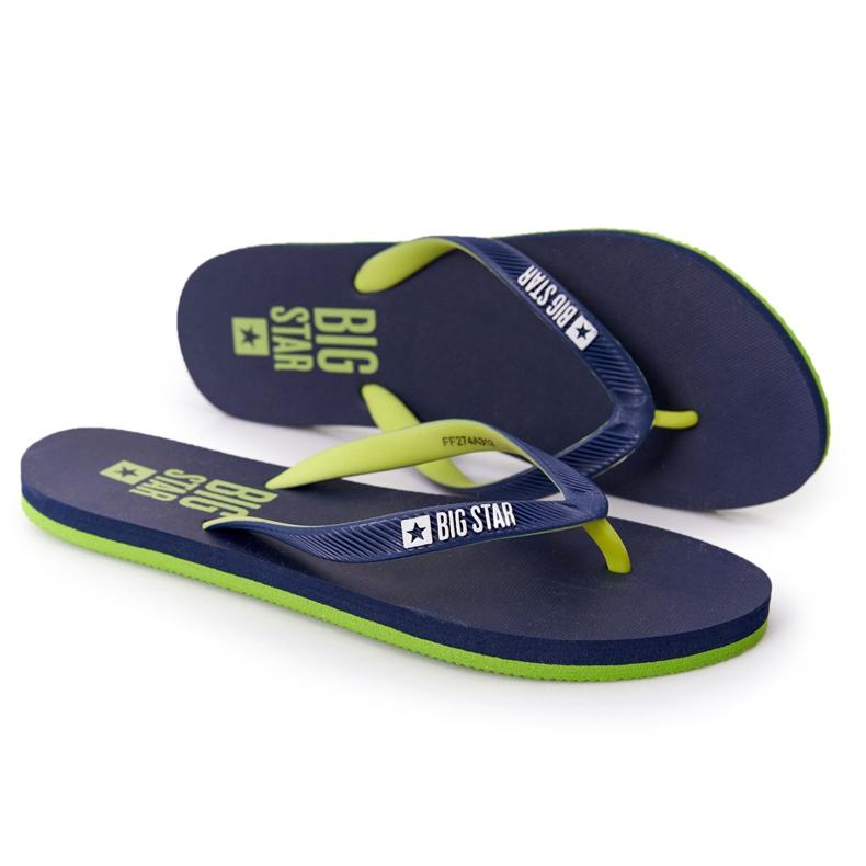 Women's Flip-flops Big Star FF274A312 Navy blue green
